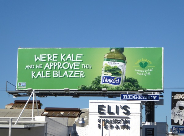 we approve this Kale Blazer Naked Juice billboard
