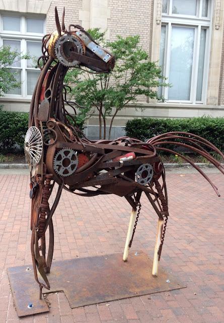 Marvin Allan Williams Found Item Horse Sculpture