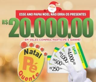 Promoção ACE Batatais Natal 2017 Pé Quente 20 Mil Reais Vales-Compras