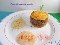 Pastel de carne con hojaldre