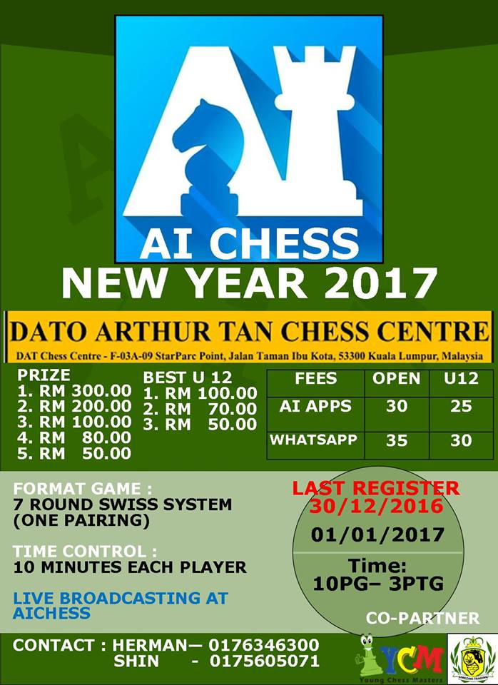 AIChess New Year(1/1/2017) @ DATCC