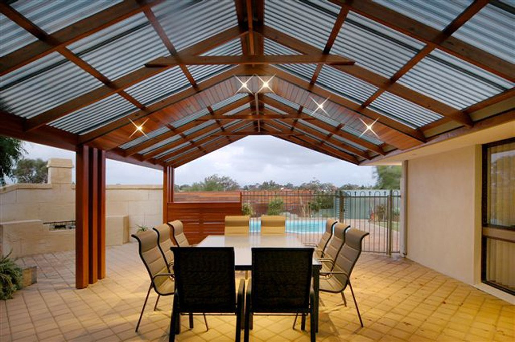pitched roof pergola