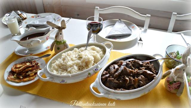#pääsiäinen #pääsiäismenu #pullantuoksuinenkoti #eastermenu #dinner #lammasta