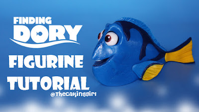 how to make dory figurine tutorial fondant