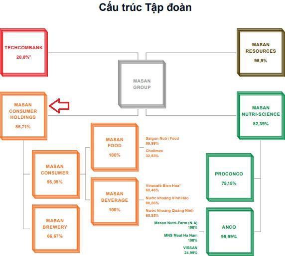 Cấu trúc tập đoàn Masan