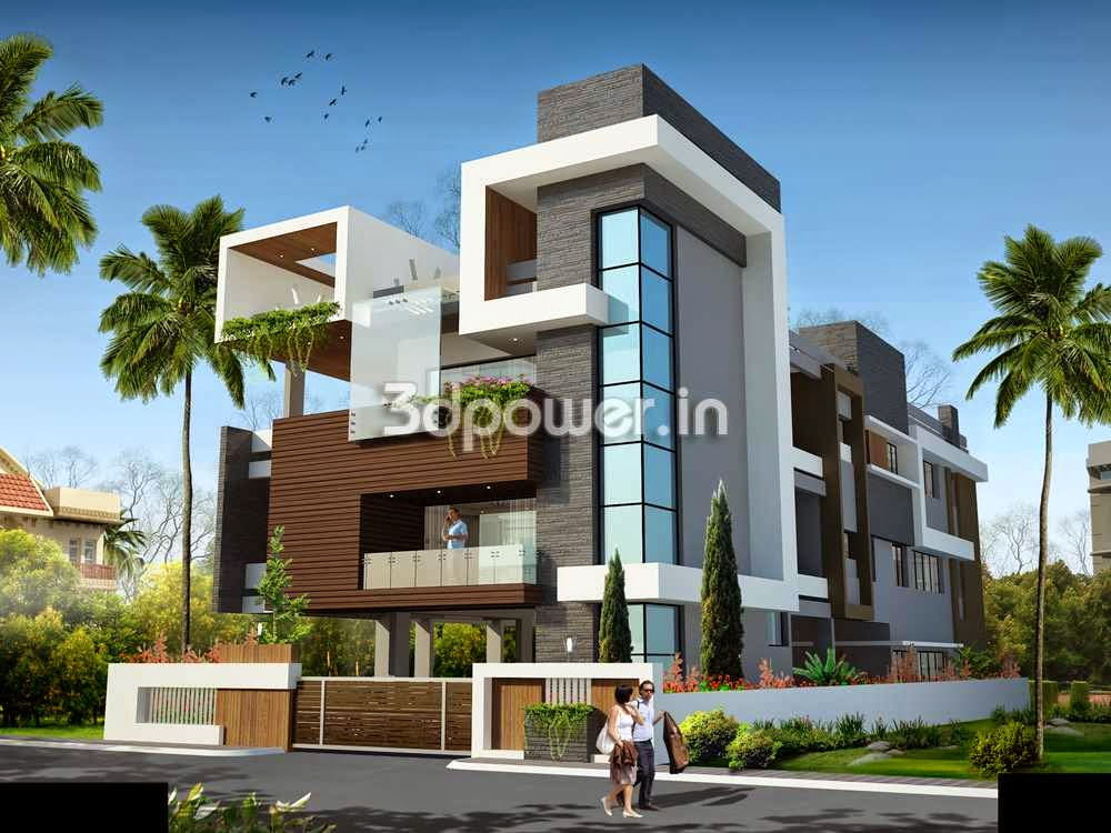 Ultra modern home designs home designs home exterior for Modern triplex house designs