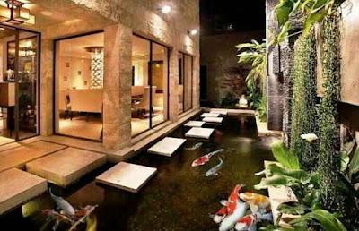 Desain kolam ikan minimalis di lahan sempit, contoh kolam ikan minimalis