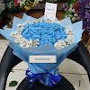 Handbouquet 50 Blue Roses