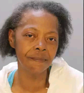 Mugshot of a 65-year-old woman