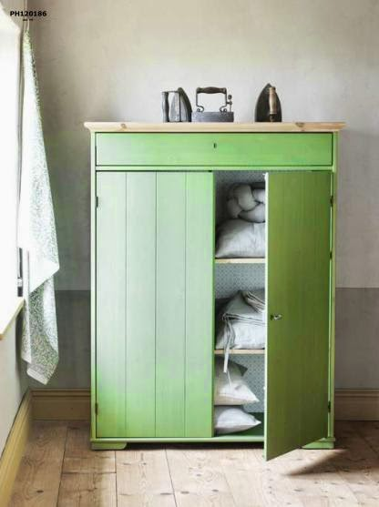 Love This Hurdal Linen Cabinet In Green May Make A Good Hideaway Tv Or Shoe Rack Too