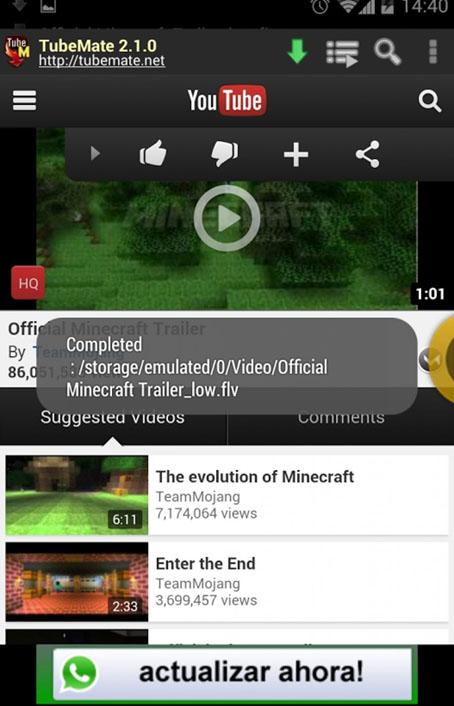 تطبيق تحميل فيديو من اليوتيوب للاندرويد تيوب مات ,Tube Mate youtube downloader download