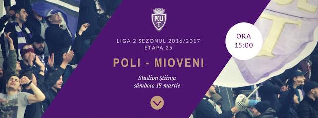 Politehnica Timișoara v. CS Mioveni - 18 martie 2017