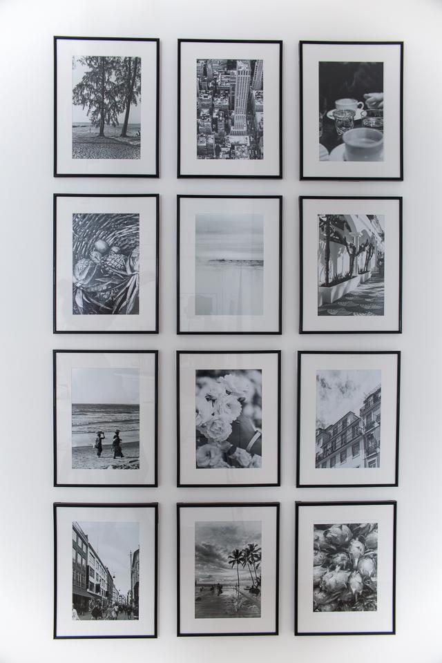 Villa H, valokuvakollaasi, taulukollaasi, mustavalkoiset kuvat, matkailu, loma