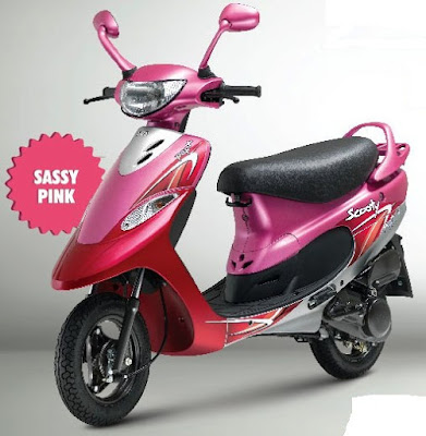2016 TVS Scooty Pep Plus Hd Wallpaper sassy pink color