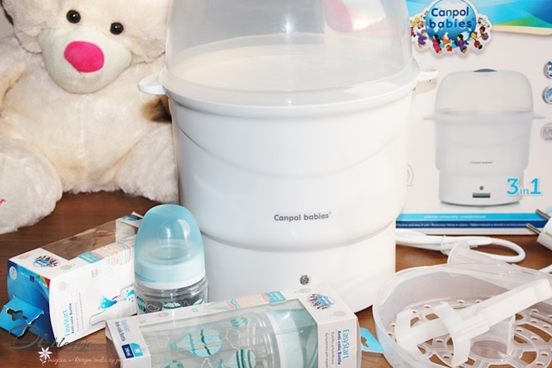 Elektryczny sterylizator parowy i butelki antykolkowe Canpol babies - recenzja