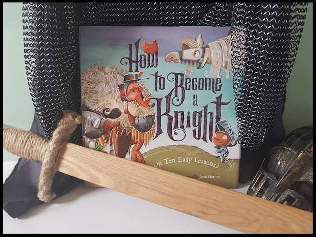 The book How to become a knight in 10 easy steps appears to be all that was missing from son's knight armour