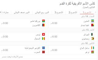 تفاصيل ومواعيد مباريات بطولة أمم أفريقيا 2017 جدول مواعيد مباريات منتخب مصر في كأس الأمم الأفريقية 2017