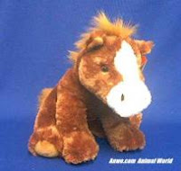 Brown Horse Plush Stuffed Animal El Paso
