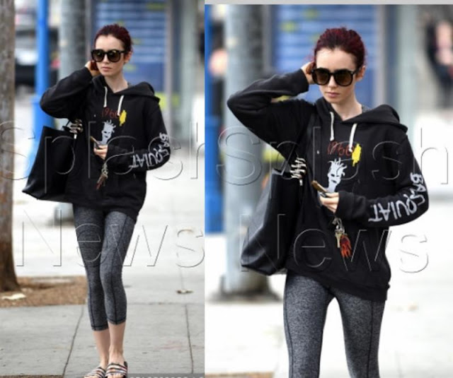 Lily Collins Pullover Hoodie