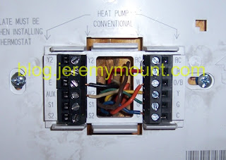 Sometimes Useful Stuff: Programmable Honeywell thermostat replacement for a Trane WeatherTron