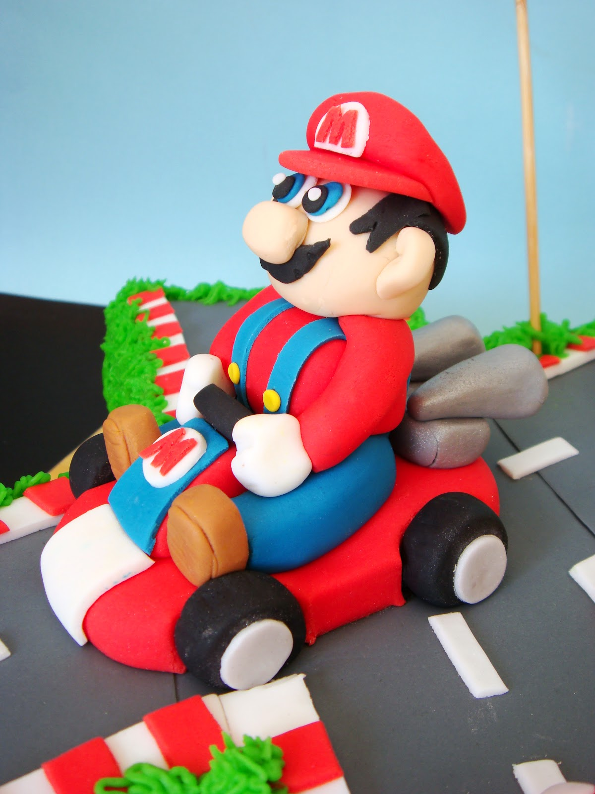 Butter Hearts Sugar Mario Kart Birthday Cake