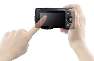 sony nex-5n black touchscreen lcd