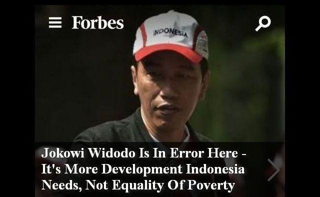 Forbes Sebut Jokowi Widodo Sedang Error