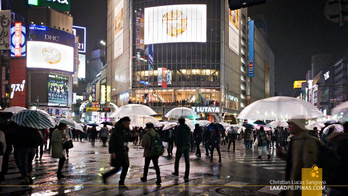 Tokyo Japan Shibuya Crossing Evening