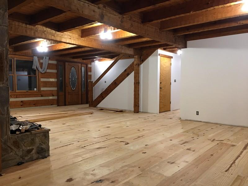 Diy 12 Wide Plank Pine Floor Unfinished