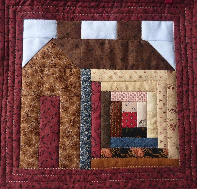 Block Cabin Quilt House Log