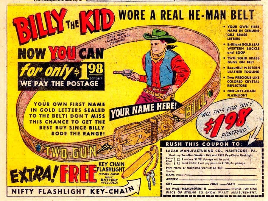 Billy the Kid Wore a Real He-Man Belt - Monster Size Ghost