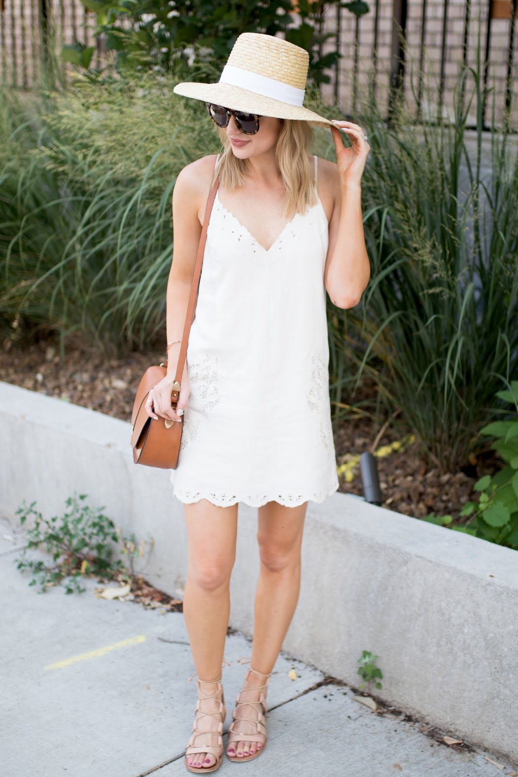 sundress + straw hat