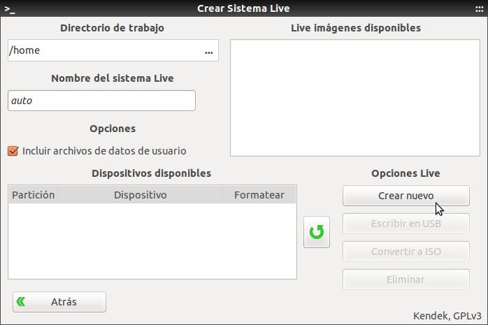 Crear Sistema Live