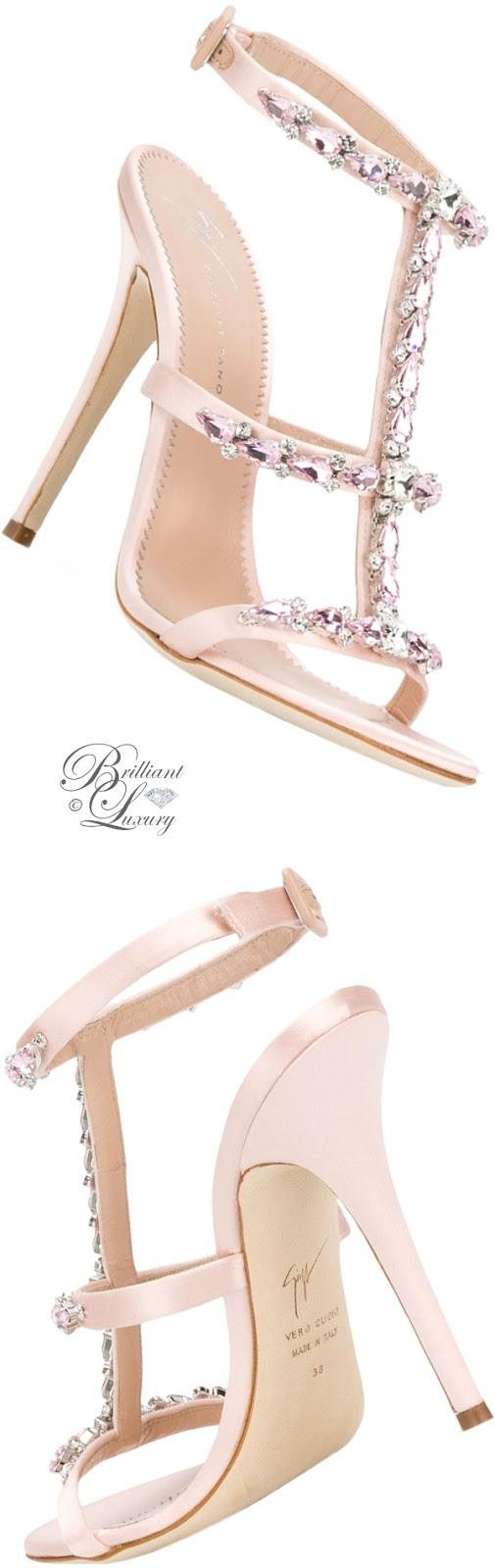 Brilliant Luxury ♦ Giuseppe Zanotti rhinestone T-bar sandals