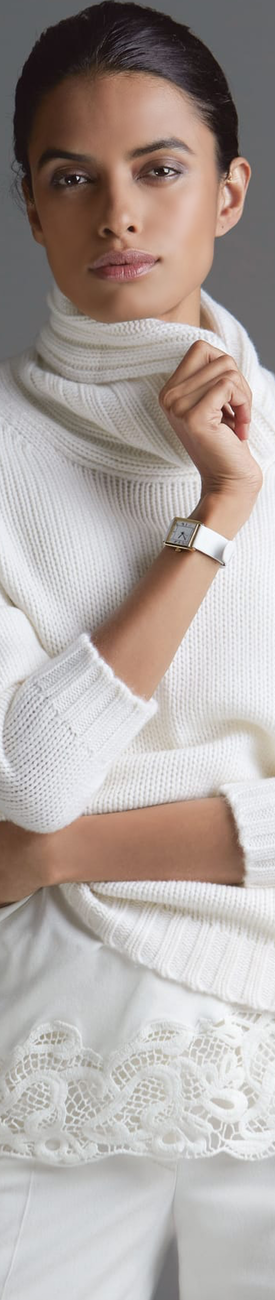 Madeleine Wool White Cashmere Sweater