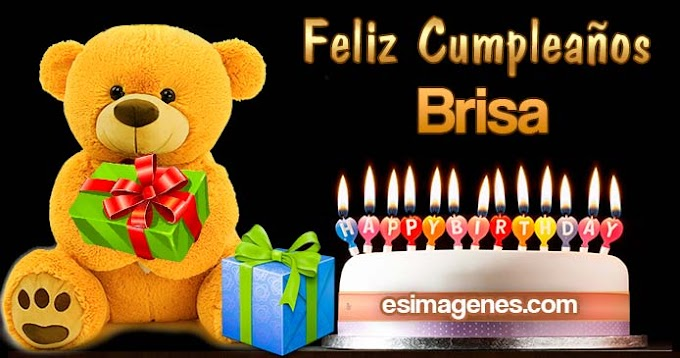 Feliz Cumpleaños Brisa