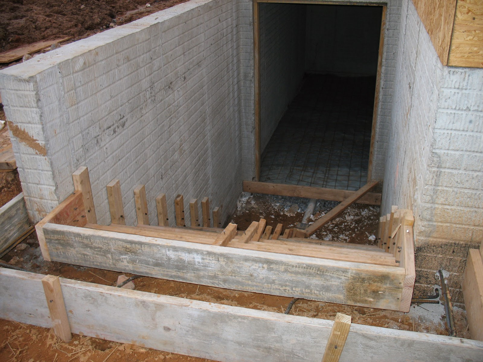 The Construction Of The Mercer House Prep For Concrete