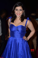 Mannara Chopra in Deep Neck Blue Gown at Zee Telugu Apsara Awards ~  Exclusive 039.jpg