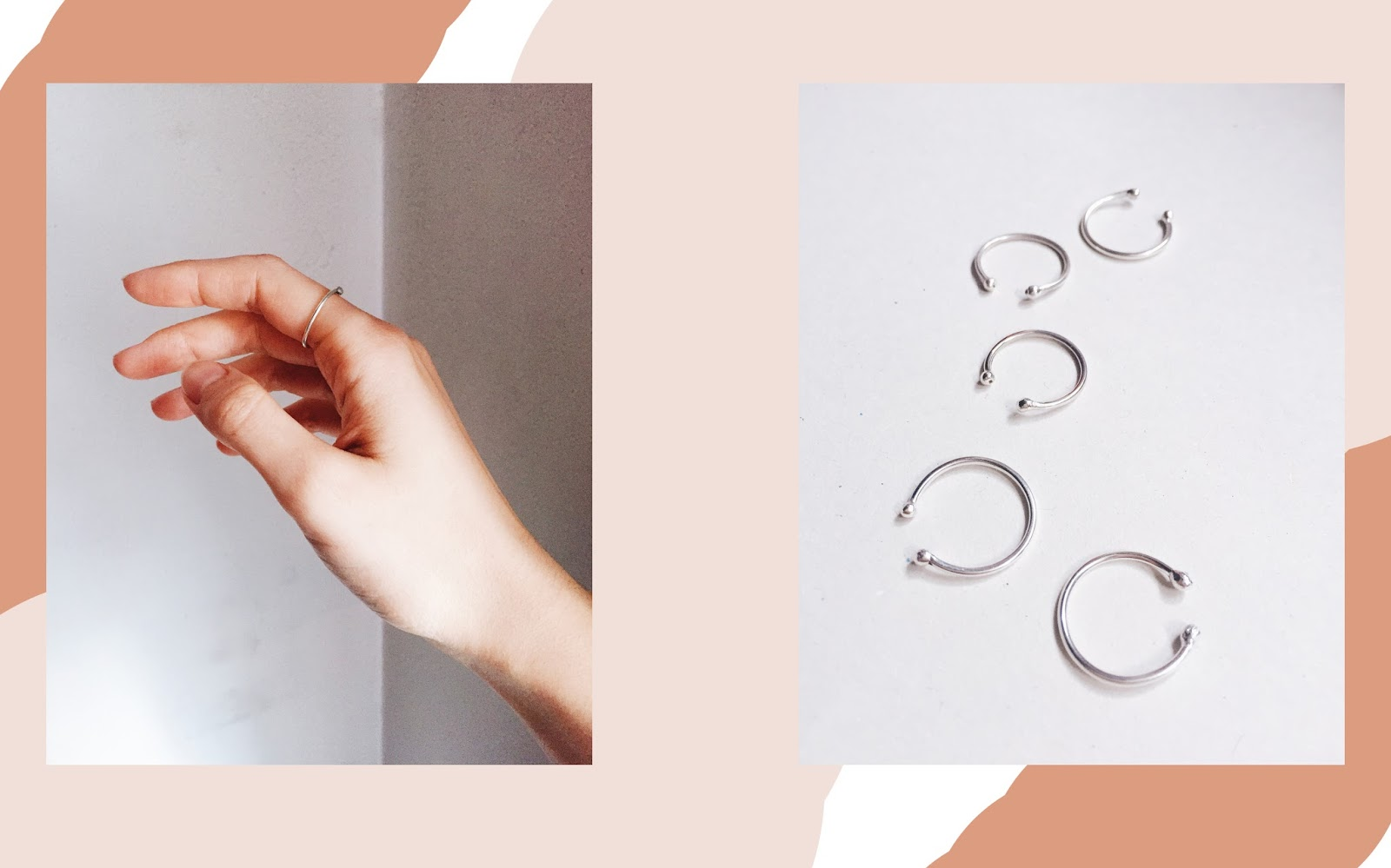 ring, pico the store, pico jewellery, pico, minimal ring, open ring, double ball ring, open band, sterling silver