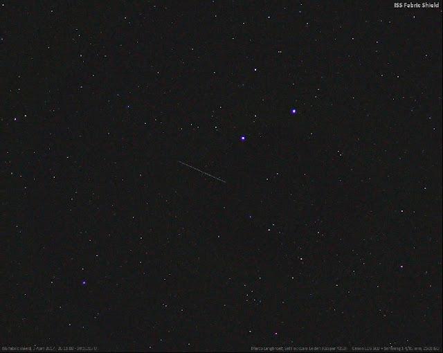 Peça perdida da ISS vista no céu