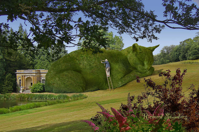 Topiary Cats by Richard Saunders