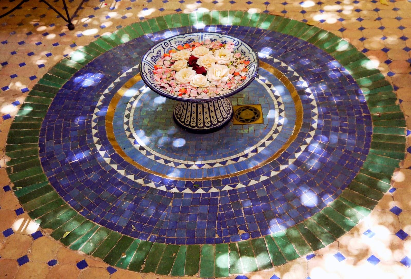 Mosaic Floors inside Riad Noga Marrakesh