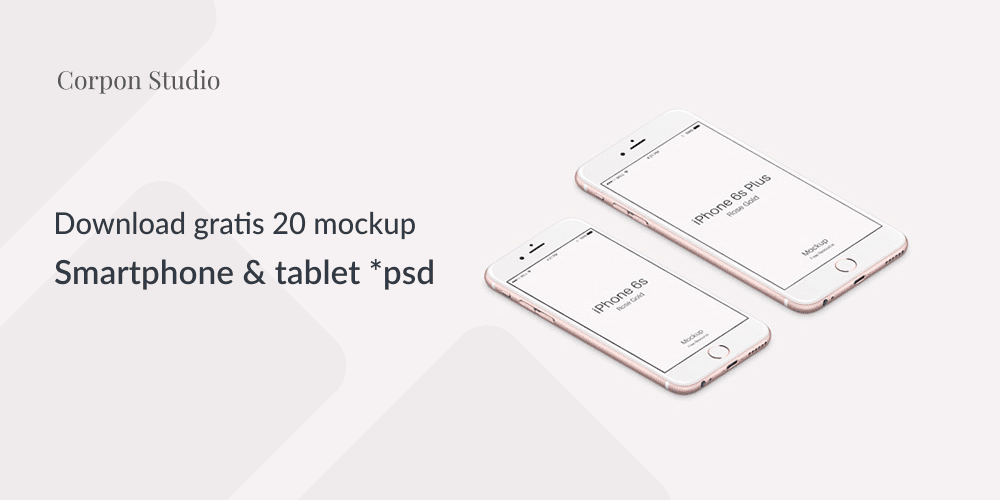 Download 20 Smartphone & Tablet Mockup PSD Terbaru Gratis