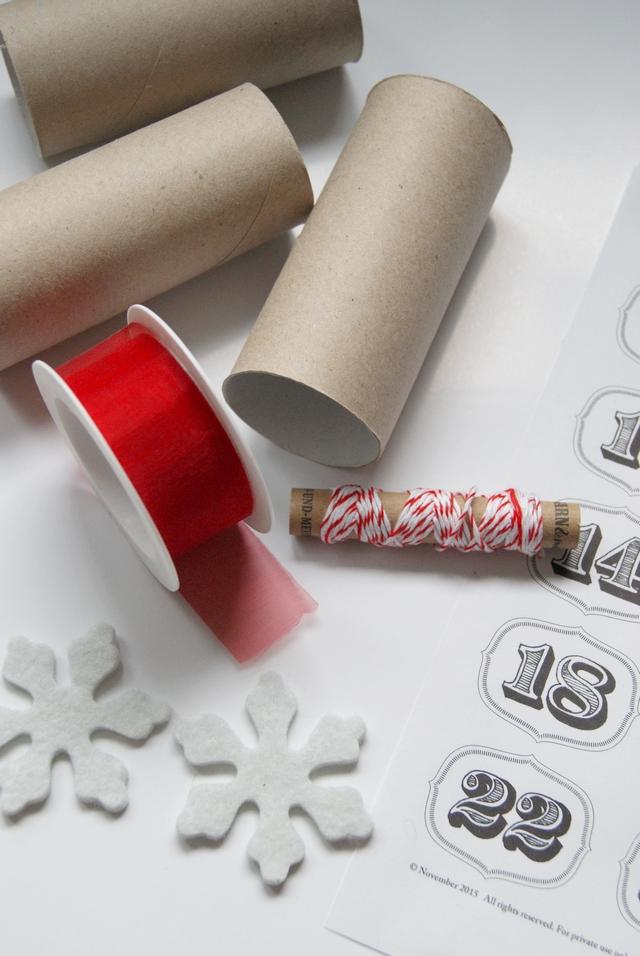 DIY Adventskalender aus Klorollen Material