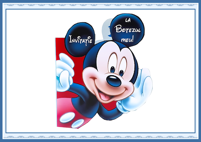 invitatie botez mickey mouse