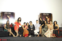 Vidya Balan with Ila Arun Gauhar Khan and other girls and star cast at Trailer launch of move Begum Jaan 013.JPG