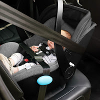 Clek Liing car seat installation, this car seat can be securely installed in a car without the base and is aircraft approved