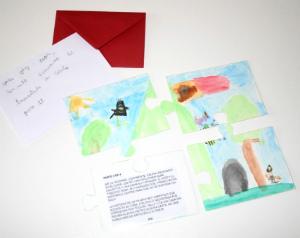 plantilla imprimir y descargar cuento puzle para enviar correos fomentar lectura