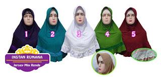 Jilbab instan jersey rumana paling murah