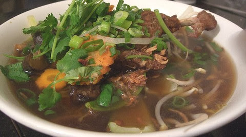 Stewed Duck and Noodles in Coconut Curry